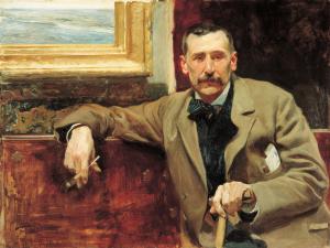 Benito Pérez Galdos retratado por Joaquín Sorolla