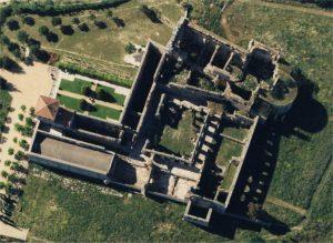 10 complejo monastico, a vista de pájaro