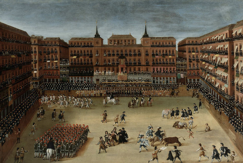 Toros y cañas en la Plaza Mayor de Madrid I