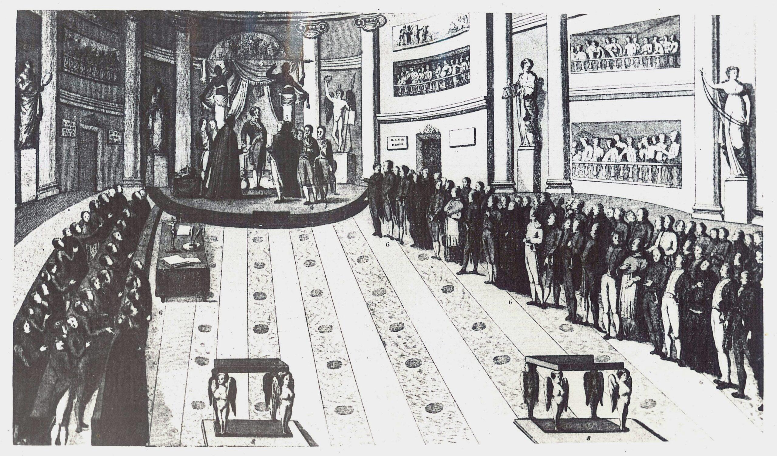 La sede provisional de las Cortes